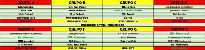 INTERSECTOR JUVENIL FEMENINO 2016