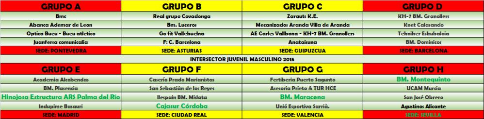 INTERSECTOR JUVENIL MASCULINO 2015